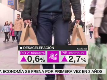 La economía se frena por primera ven en tres años