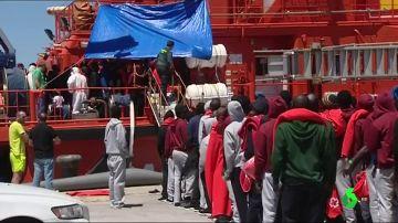 Llegada de inmigrantes a Gibraltar