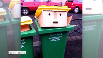 ¿Por qué vemos a Trump en un cubo de basura?