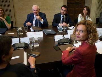 La primera reunión entre la Generalitat y el Estado después de siete años.