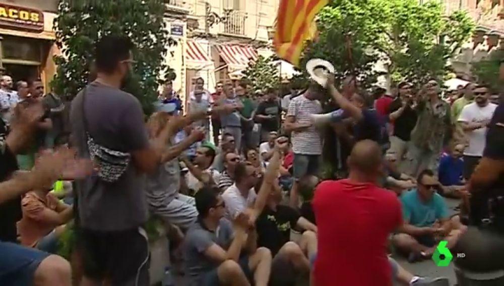 Protesta de los taxistas en Valencia