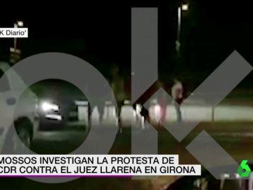 Una protesta contra el juez Pablo Llarena.