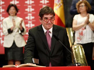 Luis García Montero durante el acto de toma de posesión de su nuevo cargo como director del Instituto Cervantes.