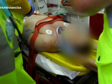 Ambulancias accidente