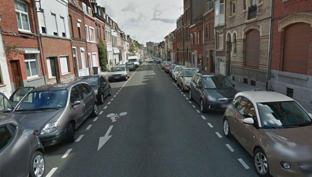 Una calle en Roubaix, Francia.