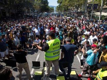 Representantes de los taxistas de Barcelona