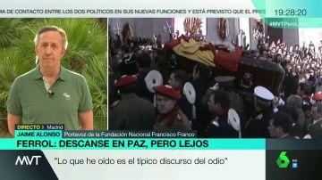 Jaime Alonso, portavoz de la Fundación Nacional Francisco Franco en MVT.