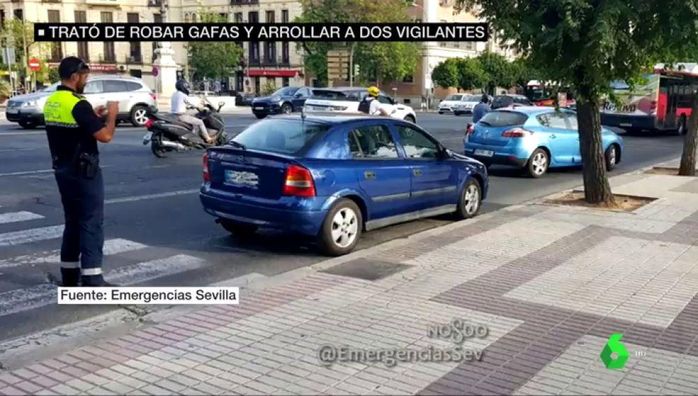 El coche con el que trató de huir Ángel Boza