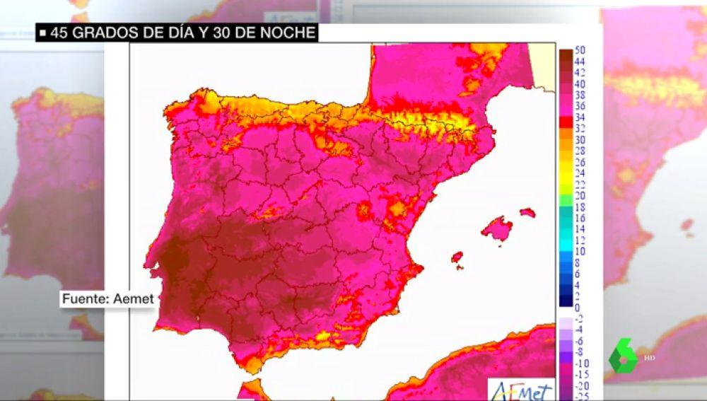 La ola de calor azota España con temperaturas de hasta 44 grados: Badajoz, en alerta roja por temperaturas extremas
