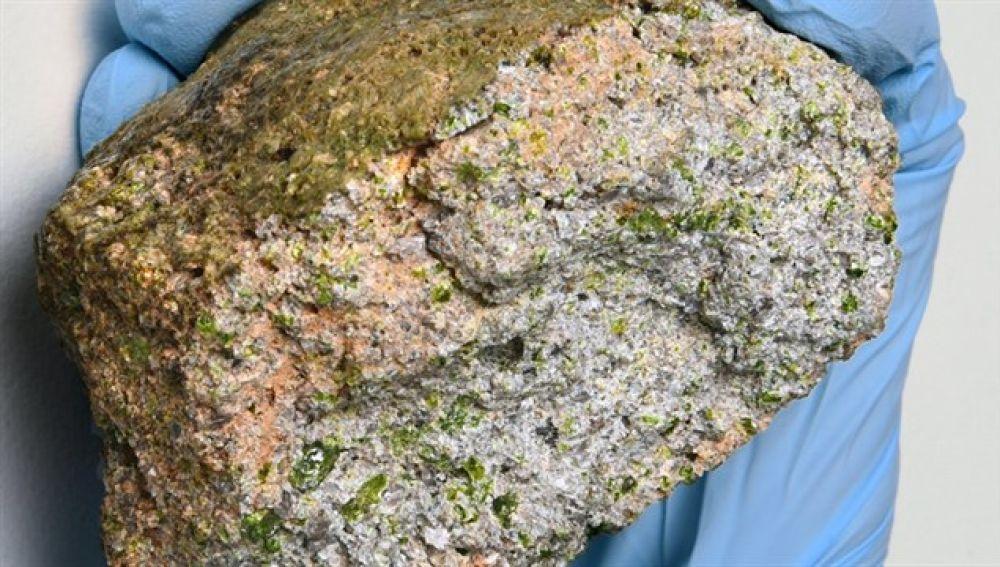 Imagen del meteorito.
