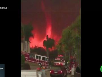 Tornado de fuego en California