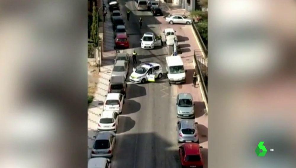 Cuatro policías heridos durante una temeraria persecución en Málaga