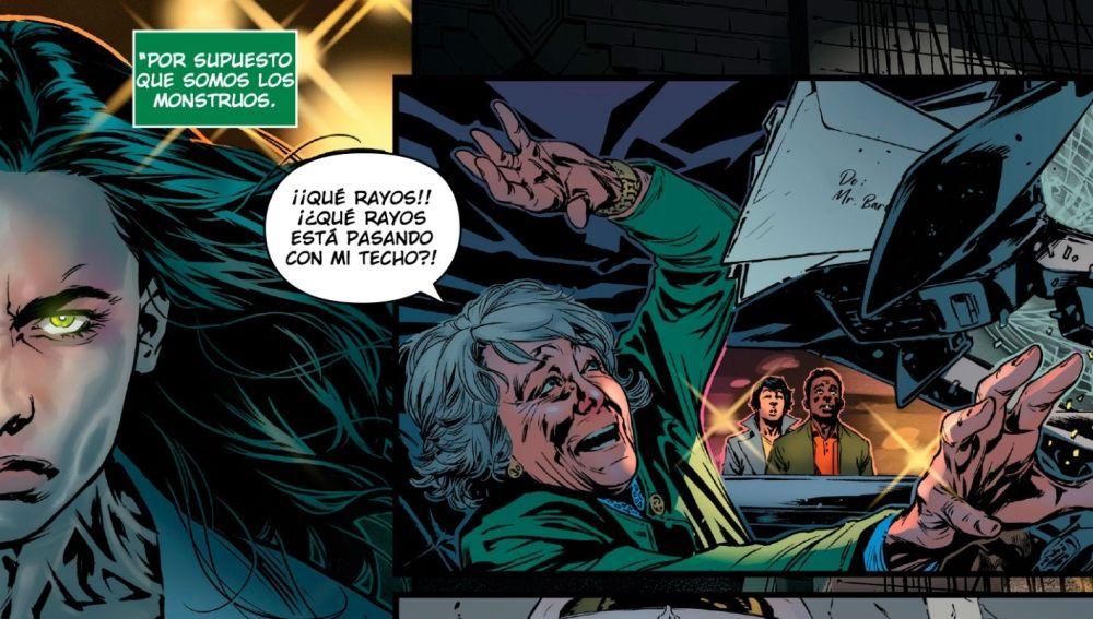 Aguirre en una viñeta del cómic 'Hulka'