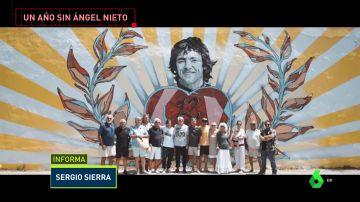 Un mural gigante en Ibiza homenajea a Ángel Nieto un año después de su muerte