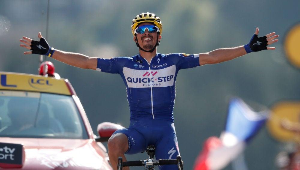 Julian Alaphilippe, en una etapa de Tour de Francia