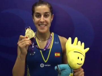 """Carolina Marín: """"Esta medalla es muy especial para mí después de pasar un tiempo complicado"""""""