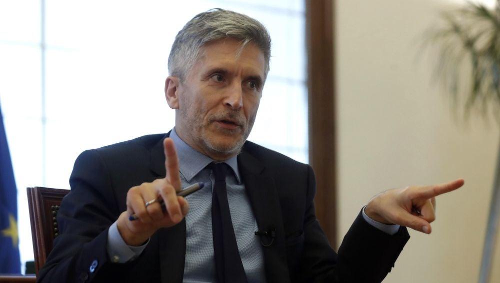 El ministro del Interior, Fernando Grande-Marlaska, en una entrevista.