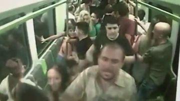 Caos en el metro de Valencia