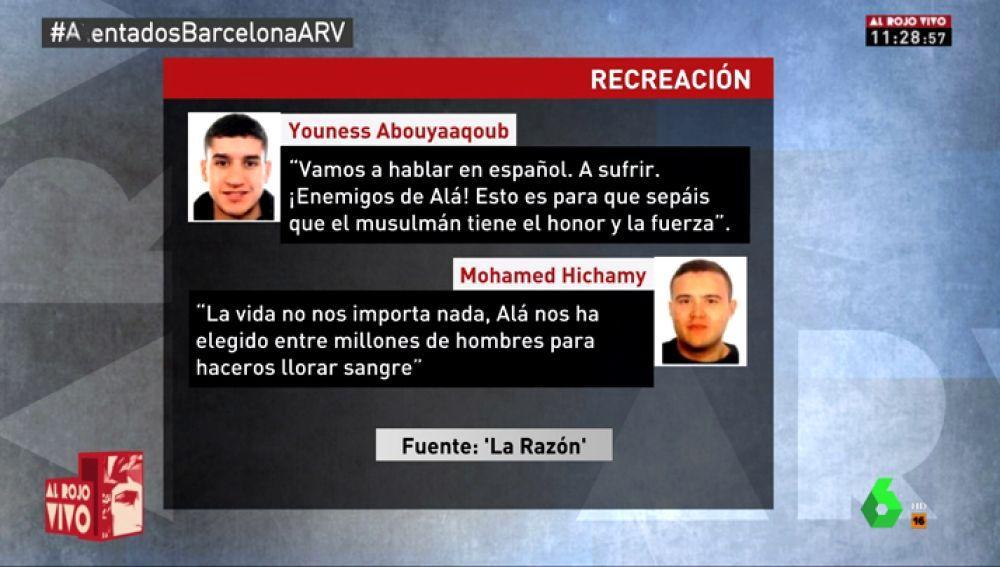 Conversaciones de los terroristas de Barcelona