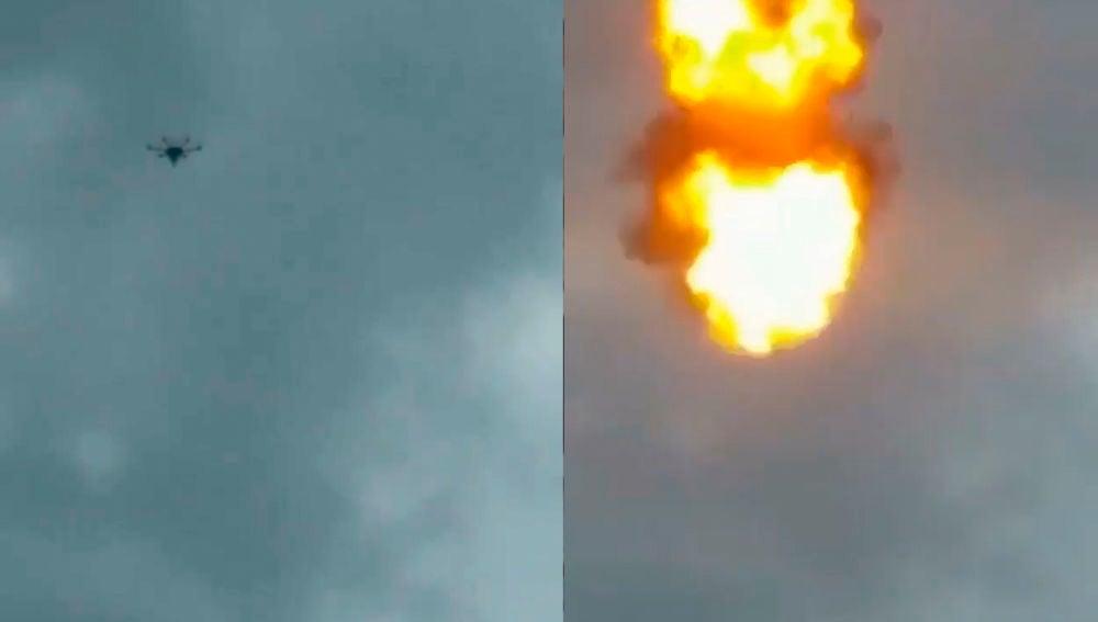 Explosión de un dron utilizado contra Nicolás Maduro