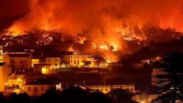 Incendio en la comarca portuguesa de Monchique