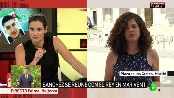 La diputada de Unidos Podemos Sofía Castañón en Al Rojo Vivo.
