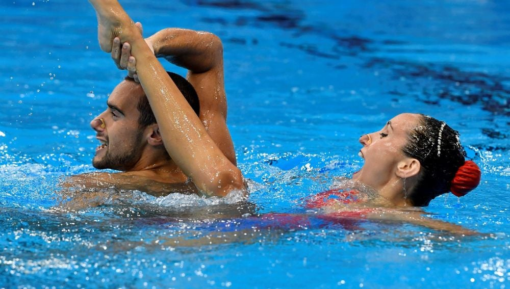 Pau Ribes y Berta Ferreras, durante la prueba