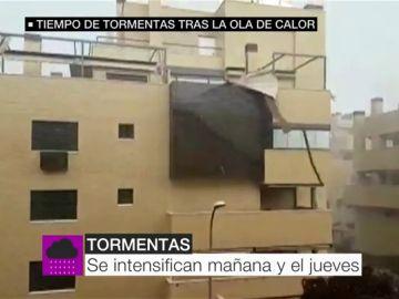 Tormentas en Madrid.