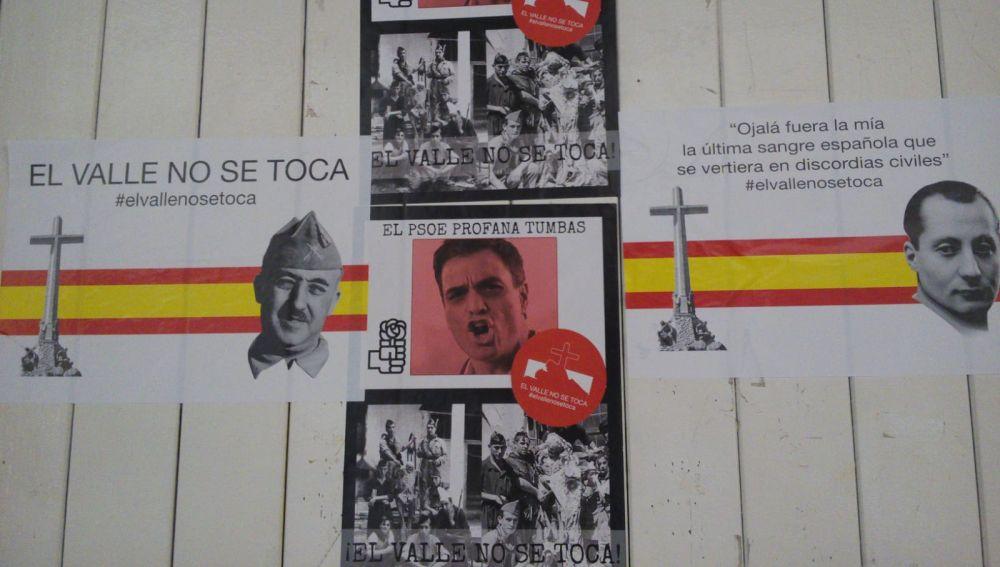 Amanecen con pegatinas de Franco