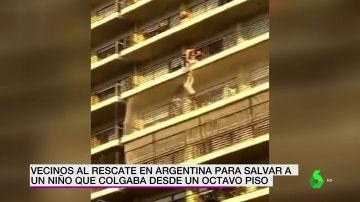 Rescate de un niño en Argentina