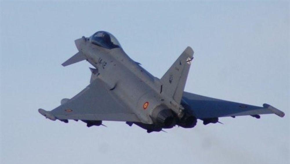 Un eurofighter español, en una imagen de archivo