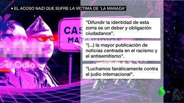 La publicación contra la víctima de 'La Manada.