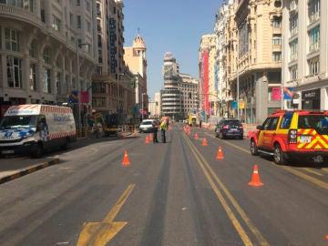 Escape de gas en la Gran Vía, Madrid