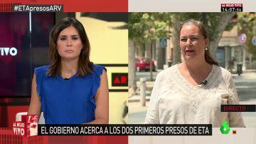 La presidenta de AVT en Al Rojo Vivo.