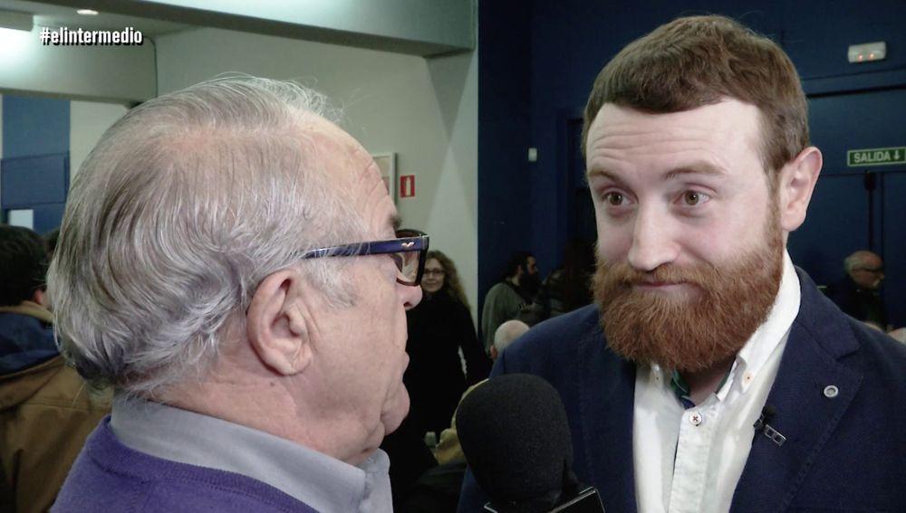Manuel Burque en un acto de Podemos