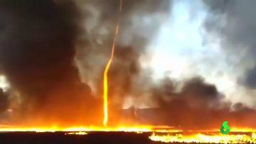 En la imagen el increíble incendio en Reino Unido