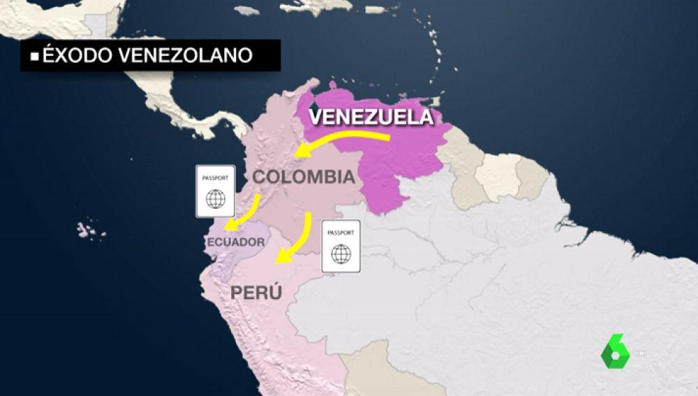 Éxodo sin precedentes en Venezuela provocado por la crisis económica: 2,3 millones de personas deja el país desde 2014