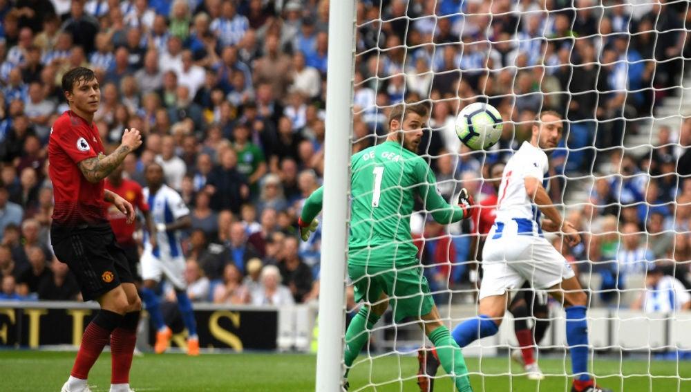 De Gea recibe un gol