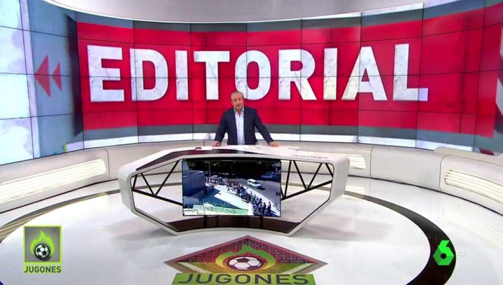 Josep Pedrerol: Tebas, piensa en los aficionados. No les eches de los campos con esos horarios.