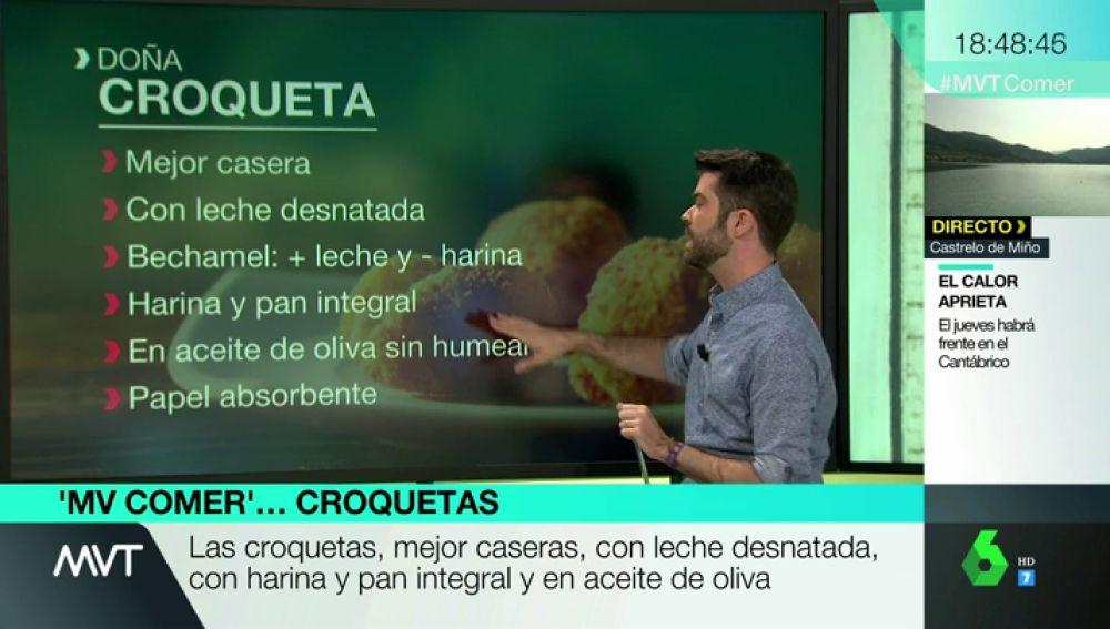 Cebolla, queso ligero, pimienta, coliflor y dos huevos: Luis A. Zamora nos enseña recetas para hacer croquetas más saludables