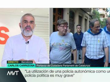 """Carlos Carrizosa: """"El Gobierno de Quim Torra está implantando la república y Sánchez mira para otro lado"""""""