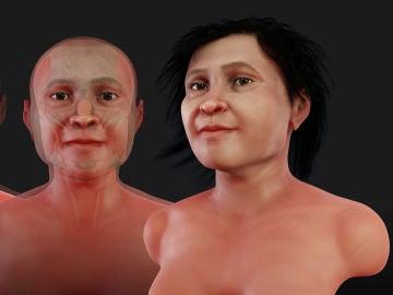 Reconstrucción 3D del rosto de la Mujer de Naharon