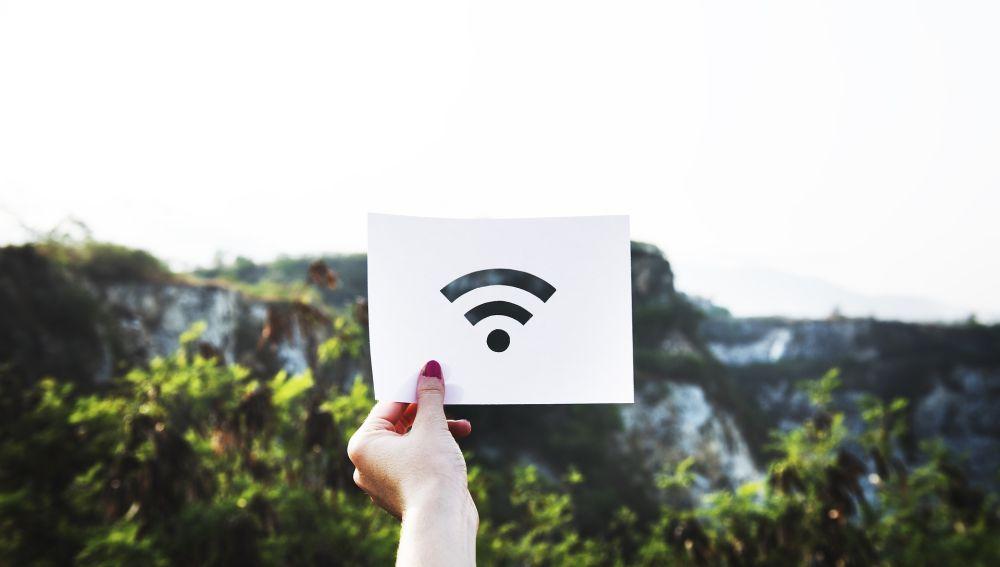 Imagen de wifi en un espacio público