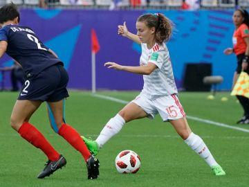 Momento del partido entre España y Francia en el Mundial sub-20