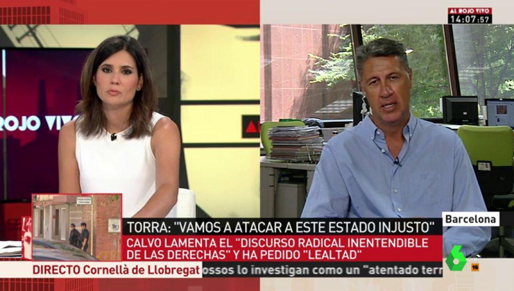"""Xavier García Albiol: """"No entendemos por qué Sánchez se queda con los brazos cruzados ante las amenazas de Quim Torra"""""""