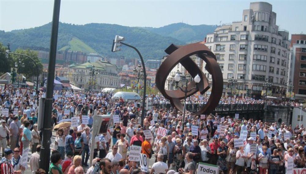 Manifestación de pensionistas en Bilbao