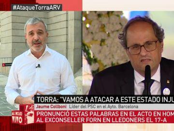"""Jaume Collboni, sobre las declaraciones de Torra: """"Forma parte de la parafernalia a la que nos tienen acostumbrados los independentistas"""""""