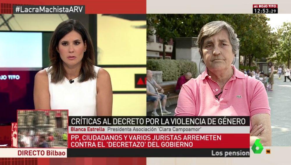 """Blanca Estrella, sobre las críticas al decreto contra la violencia de género: """"Los jueces han protestado y las que lo van a pagar son las víctimas"""""""