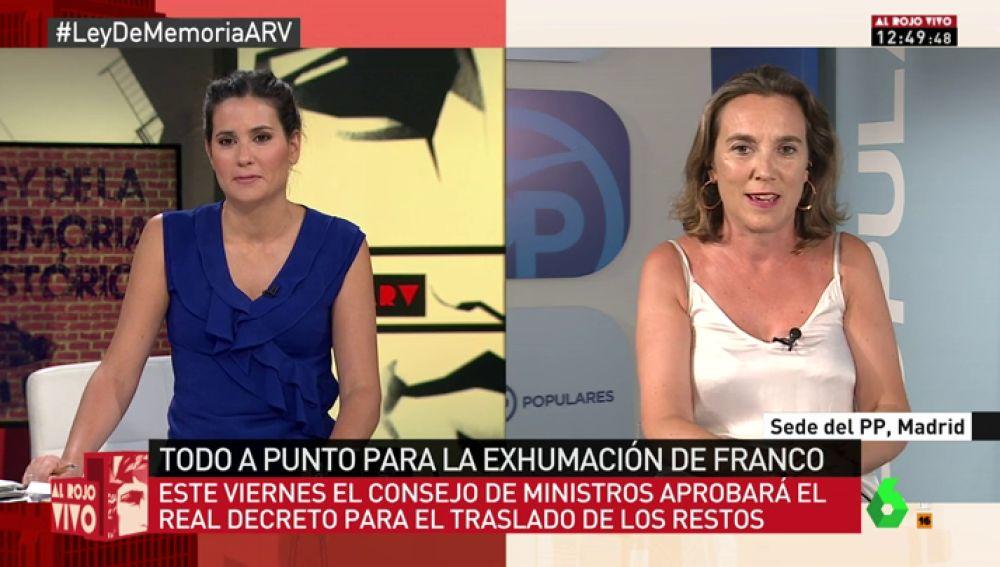 """Cuca Gamarra, sobre el decreto ley para exhumar a Franco: """"Pedimos que no se busque el enfrentamiento, hay que llevarlo con más normalidad"""""""