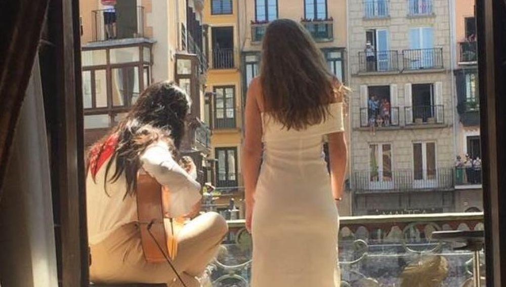 Amaia Romero y Pepe Habichuela en 'Flamenco on fire'